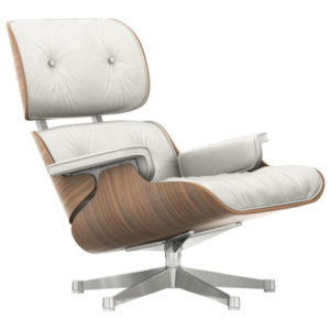 Vitra Kreslo Eames Lounge Chair, white pigmented walnut