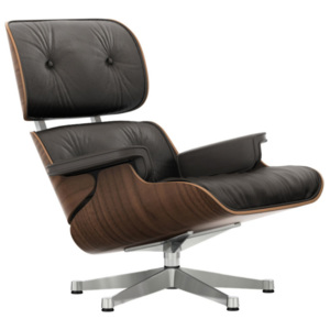 Vitra Kreslo Eames Lounge Chair, black pigmented walnut