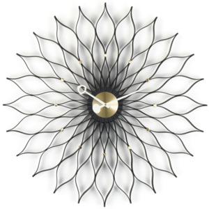 Vitra Hodiny Sunflower, black ash/brass