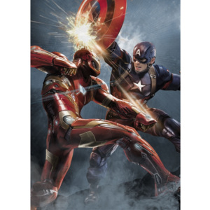 Nástenná ceduľa Civil War Divided We Fall - Cap vs Iron Man