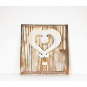 Tyrolean Heart Wooden Picture